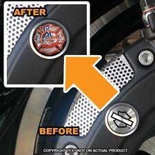 Brembo Front Brake Caliper Insert Set For Harley - USA FLAG FIRE DEPT - 090