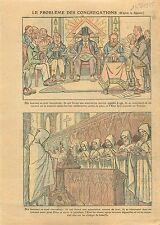 Caricature Anti Maçonnique Loge Congrégation Religieuse France 1925 ILLUSTRATION