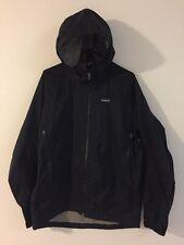 Men's PATAGONIA Waterproof Rain Coat Hooded Jacket Size M Medium Black*