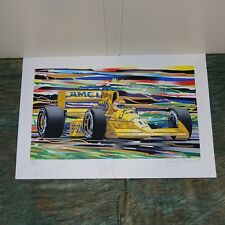 """""""Nelson Piquet"""" Randy Owens, Camel Lotus, Signed, 30 of 135, 1989, unframed"""