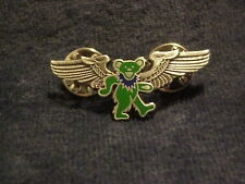 GRATEFUL DEAD GREEN DANCING BEAR WINGS PIN