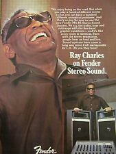 Ray Charles, Fender Sound System, Full Page Vintage Promotional Ad