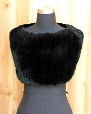 Real Rex Rabbit Fur Hand Knitting Elasticated Shrug/Wrap/Snood/Scarf free ship
