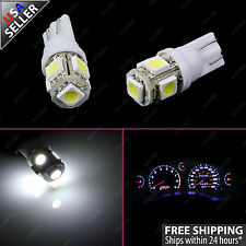 2pcs White Guage Cluster Instrument Speedometer T10 Wedge 12V LED Light Bulbs