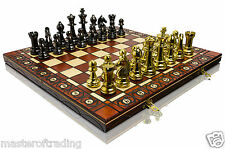 Luxury STAUNTON - GOLD Edition Wooden Chess Set  40x40cm & Weighted Pieces !!!