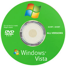 Windows Vista All Versions 32/64 Bit Reinstall Recovery Repair Disc