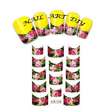 Nail art water sticker transfers FRENCH adesivi per unghie BUY 3 GET 1 FREE!!