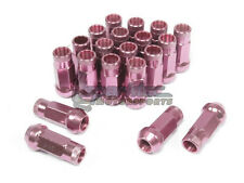 NNR Steel Extended Wheel Lug Nuts Open Ended Pink 49mm 12x1.25 20pcs