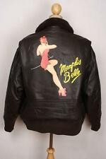 Vtg G-1 Brown Leather 'Memphis Belle' Flight Jacket Size XL