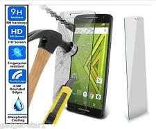 Genuine 100% TEMPERED GLASS HD Film Invisible Screen Protector For Moto X Play