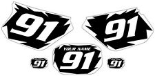 1991-2003 Yamaha DTR 125 Pre-Printed Black Backgrounds White Shock Series