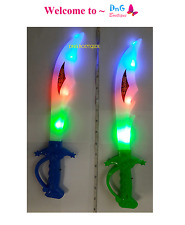 12 Light Up Ninja Pirate Buccaneer Sword LED Flashing Blinking Party Favor Bag