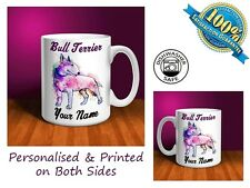 Bull Terrier Personalised Ceramic Mug: Perfect Gift. (D015)