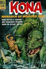 KONA #6 Good, Monarch of Monster Isle, Dell Comics 1963