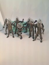 Recast Marx Space Figures With Helmets. 8 Figures In 8 Poses With 7 Helmets.