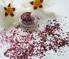 Nail Art Chunky *Plum* Mulberry Wine Hexagon Glitter Spangles Mix Pot Decoration
