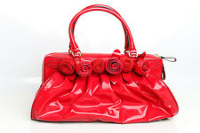 Valentino 'Lacca Fleur' Coated Canvas Satchel-Timeless Classic RED 4WB00912