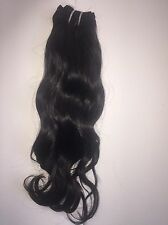 "Raw/ Unprocessed 100% Indian Temple Hair 16""  Natural Wavy"