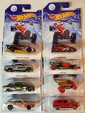2014 Holiday Hot Rods Hot Wheels complete set  of 8 cars Wal-Mart Exclusive