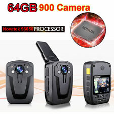 64G FHD 1080P D900 Body Security Police Camera DVR Night Vision Video Recorder