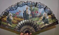 San Judas Tadeo St. Jude Thaddeus Plastic Fan Abanico de Mano NEW
