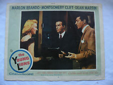 The Young Lions Marlon Brando, Montgomery Clift 1958 Lobby card#3 movie#58/95