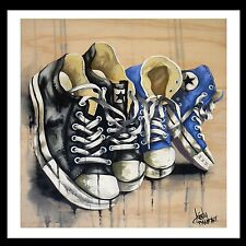 """STREET ART"" HIGH QUALITY GRADE  GRAFFITI CONVERSE  STARS PRINTS BY ANDY BAKER"