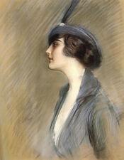 Helleu Paul Cesar Portrait Of Clara Weil A3 Print
