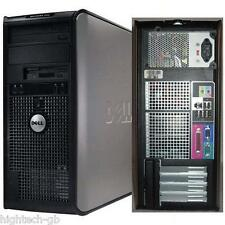 DELL Optiplex Tower PC Processore Intel Core 2 DUO 4gb ddr3 RAM 250gb HDD DVD RW WIN 7 Wi-Fi
