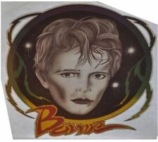 david bowie paper iron on transfer patch from the 80s vintage unused