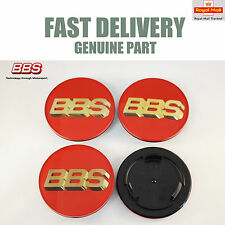 Genuine BBS Centre Caps Red and 3D Gold BBS Logo 70.6mm RS RM LM RX RF NEW