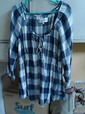 Abercrombie & Fitch Blue Checkered Blouse