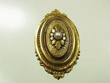 Antikes Jugendstil Medaillon Schaumgold mit Perle floral um 1900