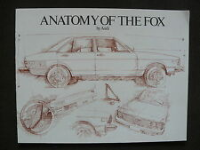 Audi USA - Anatomy of the Fox - US-Prospekt Brochure 1977