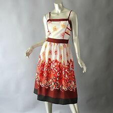 MOSCHINO Cheap & Chic Floral Fit & Flare Dress IT 38 US 4
