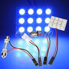 12 SMD 5050 LED Blue Light Panel T10 BA9S Festoon Dome Interior Bulb Lamp 12 V