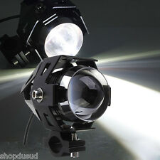 PHARE 125W LED Blanc 3 Fonctions  Flash Moto Super motard Trail 600 Beta Triumph