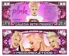 P!NK ! BILLET 1 MILLION DOLLAR US! PINK Collection Rock Pop Rn'b Chanteuse Photo