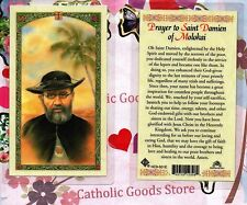 St Damien of Molokai with Prayer to St Damien of Molokai - Laminated Holy Card