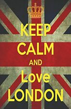 KEEP CALM AND LOVE LONDON UNION JACK JUMBO FRIDGE MAGNET SOUVENIR UNITED KINGDOM