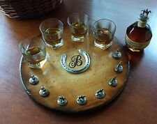 blantons bourbon cork stopper display lazy susan turntable suzan wood buffalo
