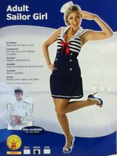 Adult Sailor Girl/woman MEDIUM Size 12-14 Costume Fancy Dress/ Dress,Hat On Comb