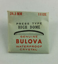 VINTAGE BULOVA PRESS TYPE HIGH DOME WATCH CRYSTAL - 28.3mm - PART# 1112E