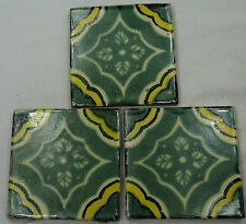 1x Hand-Made Ceramic Mexican Wall Tile Hand Painted Mexico Terracotta Tiles R18b