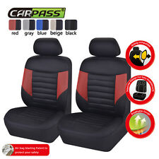 Universal 6pcs Two Front Auto Car Seat Covers Breathable Accessories Protect
