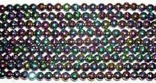 Ten Beautiful Crystal Rainbow Titanium Aura Agate  Faceted Round  Bead 8mm