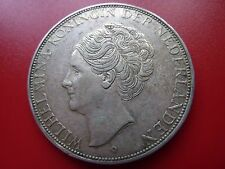 1933 Netherlands 2 1/2 Gulden Guilders Silver Coin Deep Hair Detail (ref27)