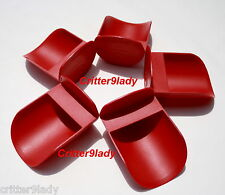 NEW Tupperware Lot of 5 Canister Rocker Scoops Red