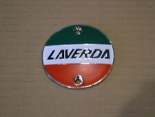 LAVERDA ROUND SUITS SEVERAL  MODELS TANK BADGE CHROME, NEW REPRODUCTION.