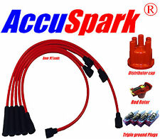 Opel Manta A HT leads, AV86C, Plugs, Red Rotor & Distributor Cap for Bosch